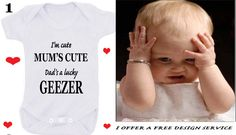 Geezer or Godmother or Just got here best friend Nanny, Auntie 1 x bodysuit or 1 T-shirt or 2 x white bibs or DESIGN YOUR OWN by BABYGROWSTREET on Etsy