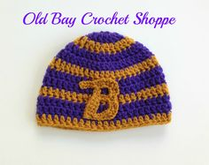 Baltimore Ravens winter hat custom Ravens by OldBayCrochetShoppe