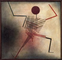 Paul Klee Der Springer (Jumper), 1930 Watercolour, partly sprayed, and pen on cotton on plywood original frame strips. Kandinsky, Paul Klee Art, August Macke, Design Theory, Expositions, Art Moderne, Oeuvre D'art, Les Oeuvres, New Art