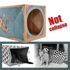 diy cat cardboard tunnel Kitten Toys, Pet Toys, Cat Lover Gifts, Cat Lovers, Cardboard Box Crafts, Interactive Cat Toys, Pet Mice, Cat Tunnel, Funny Prints