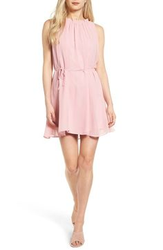 All about pretty in pink with this romantic minidress