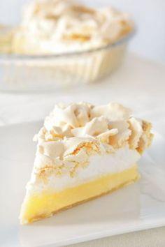 Krehký citrónový koláčik Delicious Desserts, Dessert Recipes, No Bake Cake, Vanilla Cake, Cheesecake, Pudding, Sweets, Baking, Food