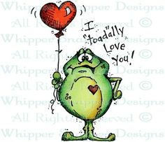 """I """"Toad""""ally Love You - Love Images - Love - Rubber Stamps - Shop Funny Frogs, Cute Frogs, Frog Quotes, Frog Pictures, Frog Art, Frog And Toad, Love Signs, Love Images, Diy Scrapbook"""