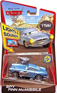 Disney cars 2 - lights and sounds - Spy Finn McMissile