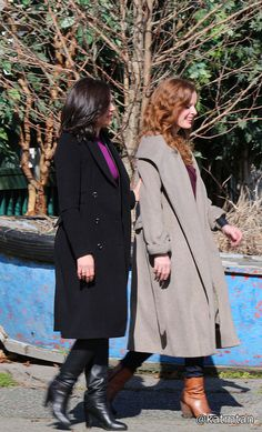 Lana Parrilla & Rebecca Marder on set - March 3, 2015