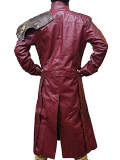 d197f6ba019 Guardians of the Galaxy Star Lord Peter Quill Trench Leather Coat at Amazon  Men's Clothing store: