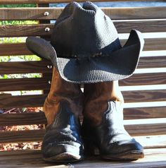 Dad Old Boots and Hat Old Boots, Cowboy Boots, Walk A Mile, Walking, Hats, Fashion, Moda, Hat, Fashion Styles