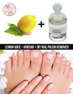 Make your own super simple nail polish remover.