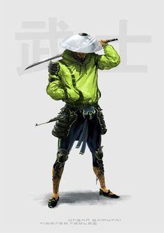 Urban Samurai, Character Design, Artwork, Fictional Characters, Character Art, Art Work, Work Of Art, Auguste Rodin Artwork, Fantasy Characters