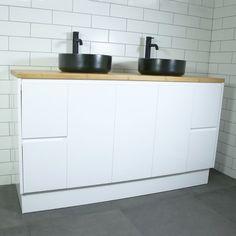 Buy Lyra Floor Mount Vanity Cabinet without Top from Highgrove Bathrooms. Leaders in bathroom, kitchen and wet area design. Vanity Units, Vanity Cabinet, Bathroom Renovations Perth, Metal Drawers, Basin, Kitchen Cabinets, Flooring, Storage, Bathrooms