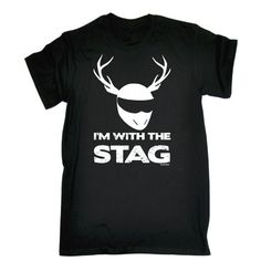 I'm With Stag T-Shirt Funny Slogan Joke tee by OneTwoThreeT