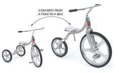 Incredibly smart ride that converts from trike-to-bike. Designed by Tony Anthony it has been in production since 1949. Converto® Bike