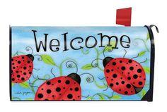 Mailbox Cover Ladybug Welcome