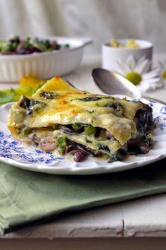 Meat-free lasagna wi