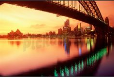 size: Photographic Print: Australia, Sydney,Skyline with Opera House and Harbour Bridge by Chad Ehlers : City Skyline Wallpaper, Cityscape Wallpaper, Bridge Wallpaper, Wallpaper Murals, Framed Prints, Canvas Prints, Art Prints, Sydney Skyline, The World's Greatest