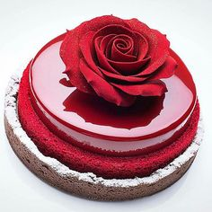 Beautiful Rose Mirror Cake in categories Mirror Cakes / Cakes Cake Roses, Rose Cake, Crazy Cakes, Cake Decorating Techniques, Cake Decorating Tools, Decorating Ideas, Beautiful Cakes, Amazing Cakes, Stunningly Beautiful