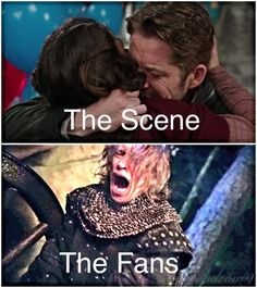 That scene was cruel ... Watching regina be confused then realize that her true love had his wife back ... She had FREAKIN' tears in her eyes !!!!! It was horrible