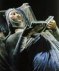 Eleanor of Aquitaine's tomb effigy in Fontevrault Abbey, France. One of the most powerful women of the middle ages, by the time of her death in 1204 she had been queen consort of both France and England.