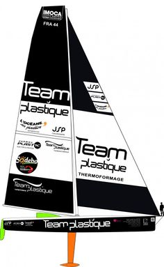 """Team Plastique- This is not the first Vendée Globe attempt for the Team Plastique 60' monohull. Coville (6th in 2000-2001), Josse (5th in 2004-2005) and Boissières (7th in 2008-2009) have successfully sailed her around the world in the """"Everest of the seas"""". Alessandro will therefore be on the start line with a recently refurbished reliable boat. #VendeeGlobe #VG2012"""