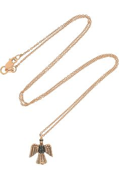 Eagle 18-karat Rose Gold Diamond Necklace by Ileana Makri