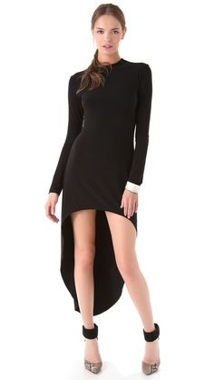 Obsessed. Norma Kamali Super High Low Dress