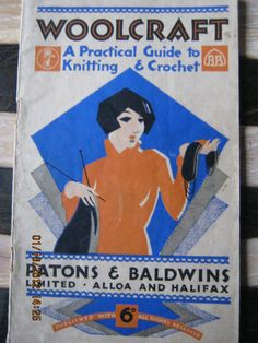 I love Art Deco and look at her knitting with a cigarette in her mouth!