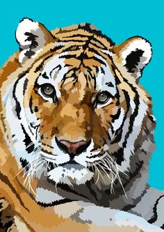 Tiger 5 by elviraNL  - digital drawing #Art #AnimalArt  #Tiger