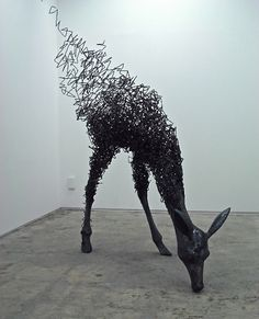 (title unknown), Acrylic resin and steel wire by Tomohiro Inaba