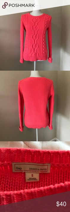 Neon coral sweater from GAP Neon coral sweater from GAP. Excellent condition. GAP Sweaters Crew & Scoop Necks