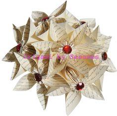 WWW.SESAMES.CO.UK - London Origami Florist - Paper Origami Flowers Bouquets Wedding Anniversary