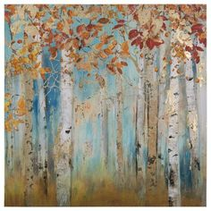 Yosemite Home Decor Birch Beauties II Square Canvas Wall Art Canvas Art Prints, Painting Prints, Canvas Wall Art, Canvas Paintings, Metal Tree Wall Art, Framed Wall Art, White Birch Trees, Square Canvas, Hand Painted Canvas