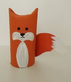 toilet paper Fox (Diy Paper Animals)