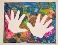 Hand Print Resist Art