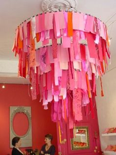 Cute DIY! Girls room? Lots of ribbon or even paper would do wonders!