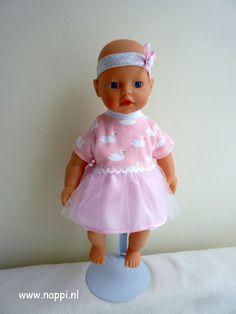 Zomerkleding / My little Baby Born 32 cm | Nappi.nl jurkje, hoofdband en pofbroekje eigen ontwerp