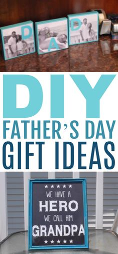 Dads are the best! Father's day is just 2 weeks away, so we are bringing you 2 awesome and easy DIY Father's Day Gift Ideas today. Diy Father's Day Gifts Easy, Great Father's Day Gifts, Father's Day Diy, Diy Gifts, Easy Diy, Gifts For Teens, Gifts For Dad, Fathersday Crafts, Dad Crafts