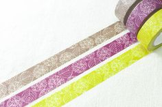 3 style - japan Washi Tape  sample - (50cm x 15mm per style) Made in Japan - ten to sen
