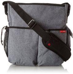 Skip Hop 3 Count Duo Deluxe Diaper Bag, Heather Gray