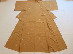 Japanese Vintage Kimono Chemical Fiber Orange Leaf P021611 | eBay