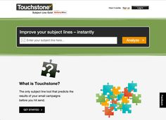 Touchstone's email subject line tool is worth using Line Tools, Email Subject Lines, Email Campaign, Get Started, Improve Yourself, It Works, How To Get, Writing, A Letter