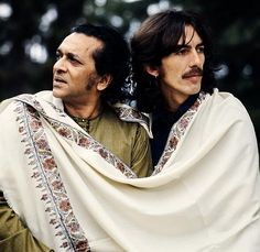George & Ravi #george harrison #ravi shankar #the beatles