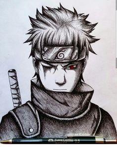 Shisui Uchiha Naruto Drawings, Naruto Sketch Drawing, Anime Drawings Sketches, Anime Sketch, Anime Naruto, Fan Art Naruto, Naruto Shippuden Anime, Naruto Tattoo, Manga Art