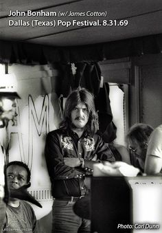 John Bonham  August 31, 1969 in Dallas ~ Texas International Pop Festival