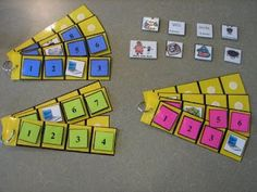 Schedule Strips for Workboxes -- oh I love the individual and color coded schedule strips! Workbox System, Cooperative Learning Groups, Busy Boxes, Pre K Activities, Summer Jobs, Resource Room, Coffee Lover Gifts, Practical Gifts, Treasure Boxes