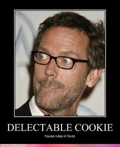 Hugh Laurie playing cookie monster.