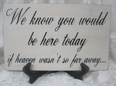 Love this memorial sign for my wedding a simple way of remembering those special loved ones who can not be here to celebrate with us.