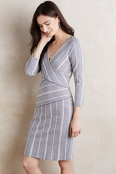 Wrapped Stripe Column Dress #anthropologie