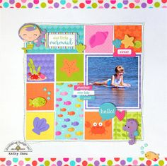Layout: *** Doodlebug Design *** Our Little Mermaid - Dreaming of summer? Grab some Doodlebug Under the Sea items and get scrapping!