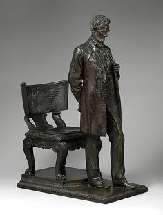 Augustus Saint-Gaudens (American, 1848–1907). Abraham Lincoln: The Man (Standing Lincoln), 1884–87; reduced 1910; cast 1911. The Metropolitan Museum of Art, New York. (2012.14a, b)