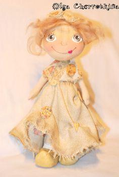 счастье нараспашку: авторская текстильная кукла